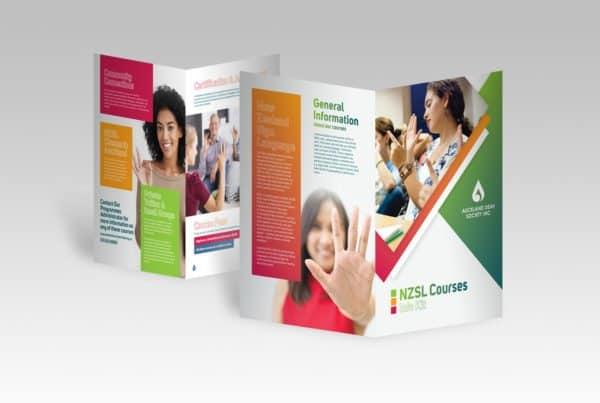 auckland deaf society brochure design