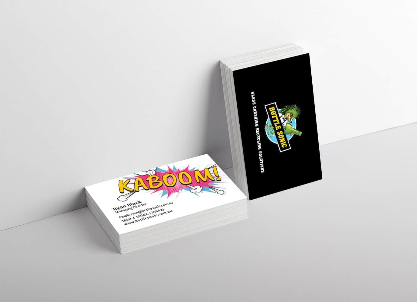 bottle sonic business card