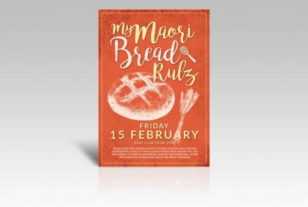 Poster Graphic Design Bread Competition