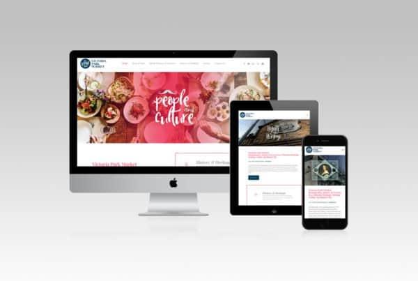Victoria Park Market Website Design