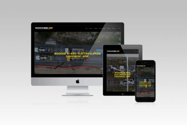 Responsive Website Design Manco Rail Hire